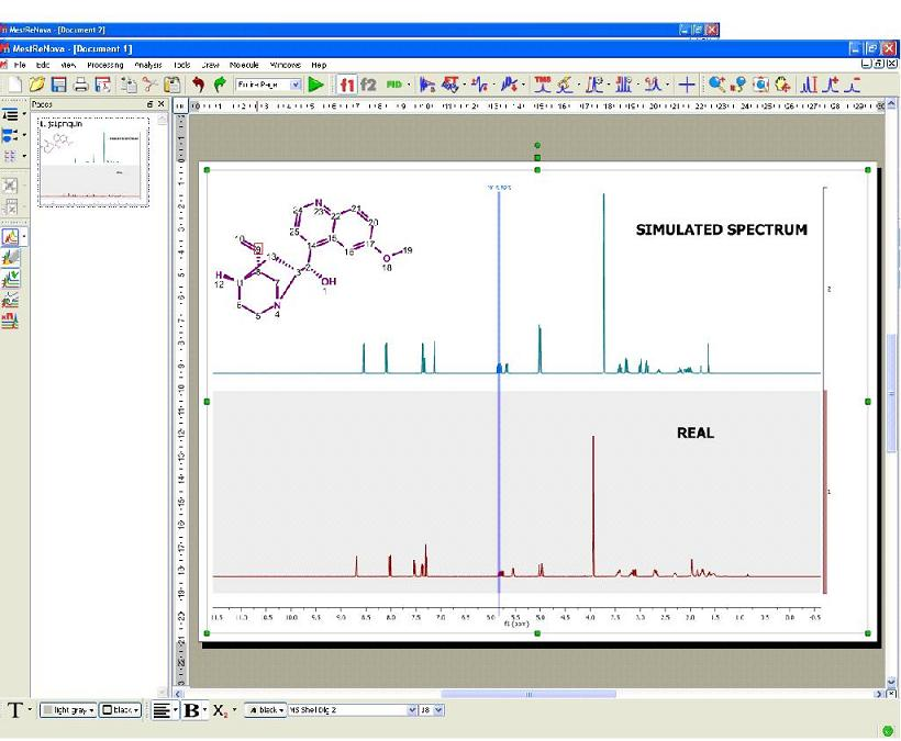 predict nmr spectrum from a molecule and compare with experimental dataset   0