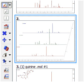 New icons in the Stacked NMR toolbar