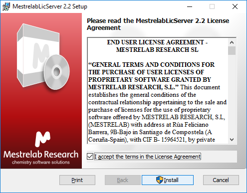 How to install a License Server (Windows) - Mestrelab Resources