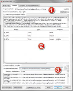 Figure 11 Datasets Tab in Mscreen